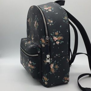 COACH MEDIUM CHARLIE BACKPACK WITH ROSE BOUQ. PRT